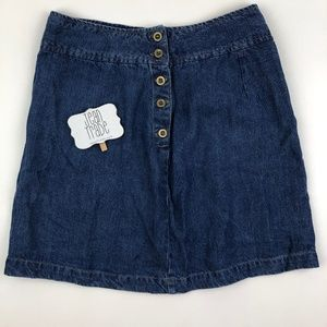 j.Jill Button Denim Skirt